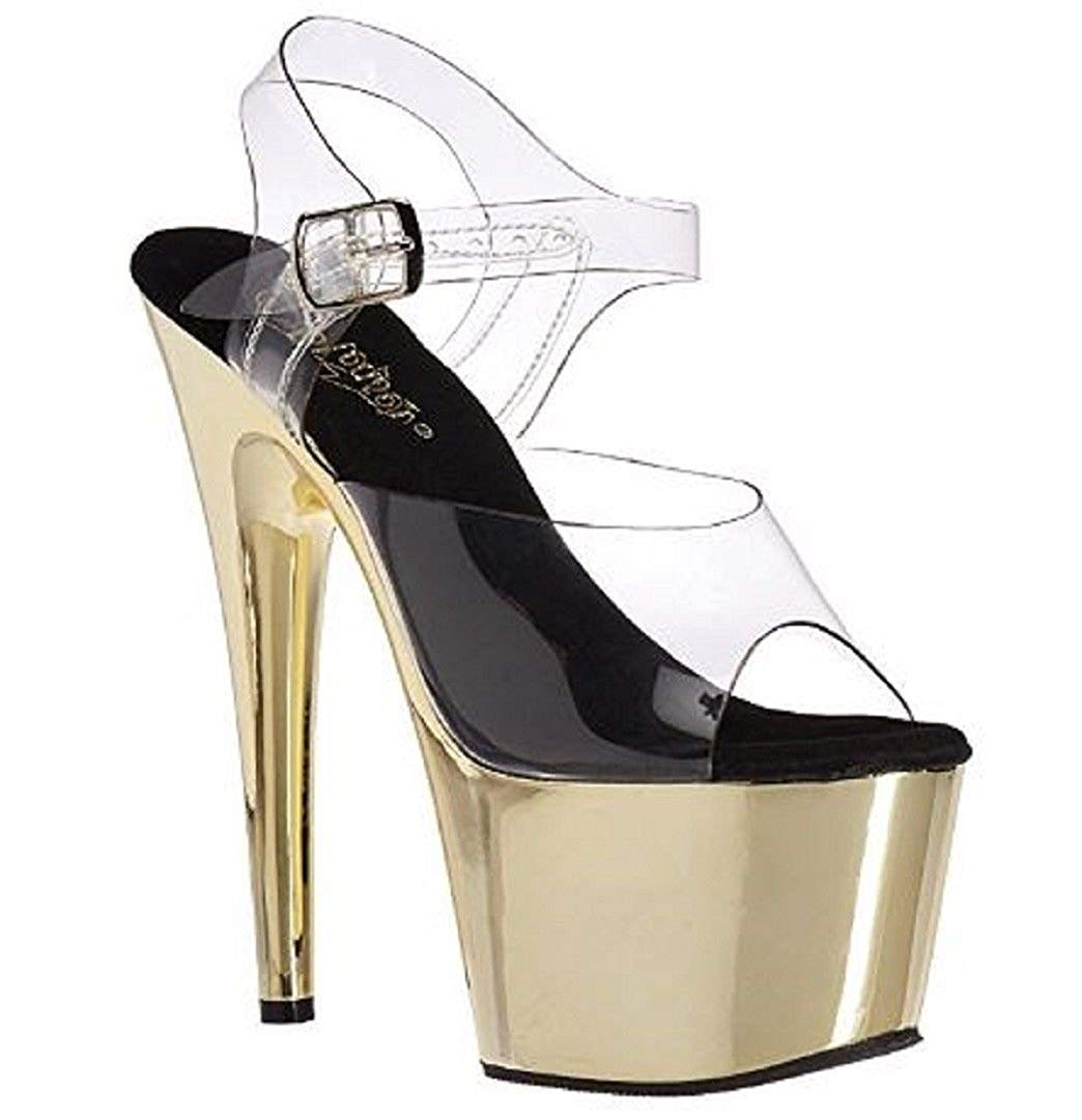 7f22e6c48f6 Get Quotations · Pleaser Adore-708 Women s Exotic Dancing Clubwear Ankle  Strap 7