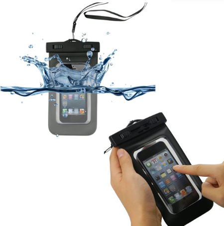 China Supplier Wholesale Mobile Phone Waterproof Bag for MP3 and up to 5.5 inch Cell Phone