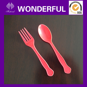PP cute plastic flatware set for child safe