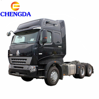 Flat roof cabin sinotruk howo A7 tractor truck for sale