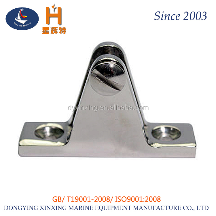 Stainless steel Boat Cover/Canopy Fitting 90 Degree Straight Deck Hinge