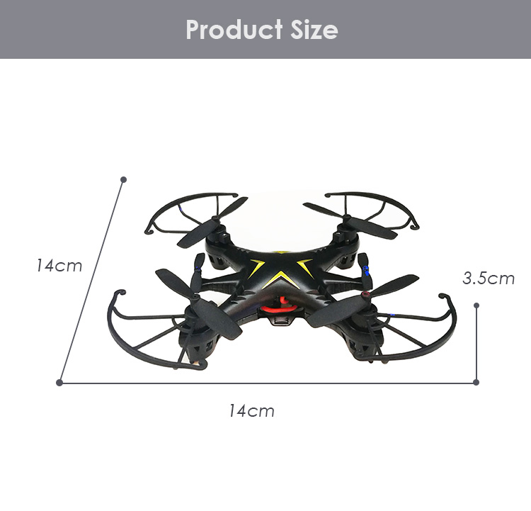 Mini Drone Aircraft RTF 4 Channel 2.4GHz 4 - Gyro with One Key Start Function