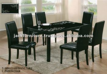 Glass Top Dining Tablewooden Dining Table With Glass Topparson