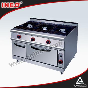 3 Burner Restoran Komersial Stainless Steel Gas Harga Peralatan Dapur Nama