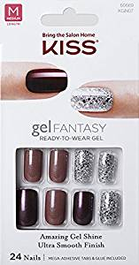 "Kiss Nails GEL FANTASY ""KGN07"" (RUSH HOUR) Medium Design Nails w/Adhesive Tabs & Glue"