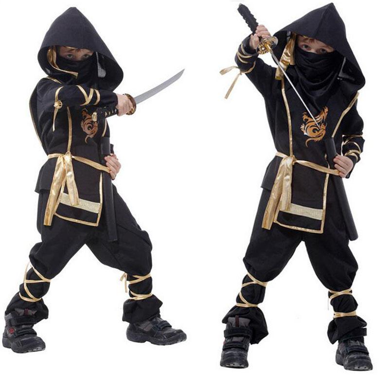 Boy Role playing Cosplay Halloween Costumes Kid Japanese Martial Arts Ninja font b Fancy b font
