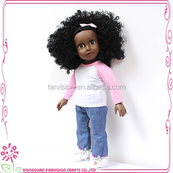 Afro-princess wholesale black dolls cute vinyl girl doll