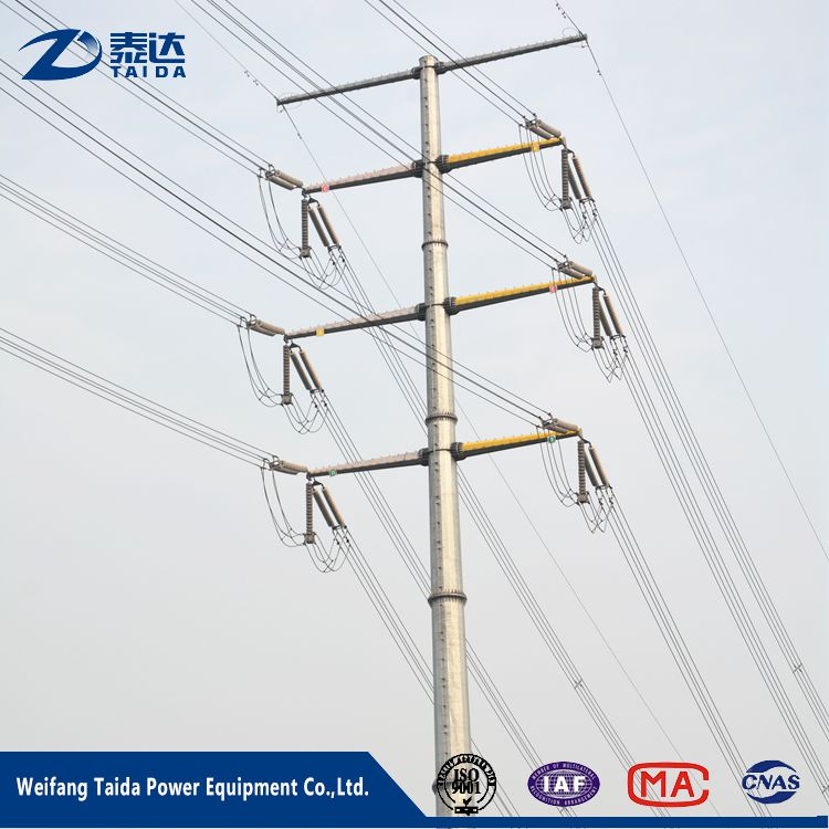 2017 High Tension Overhead Transmission Line 10kV Steel Pole