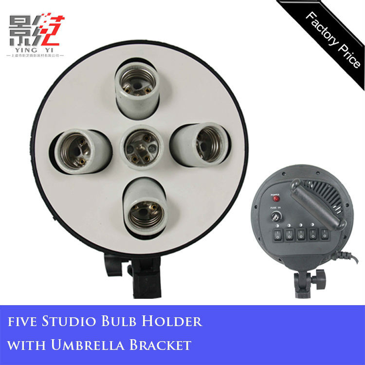 Five Heads E27 adapter for studio lamps