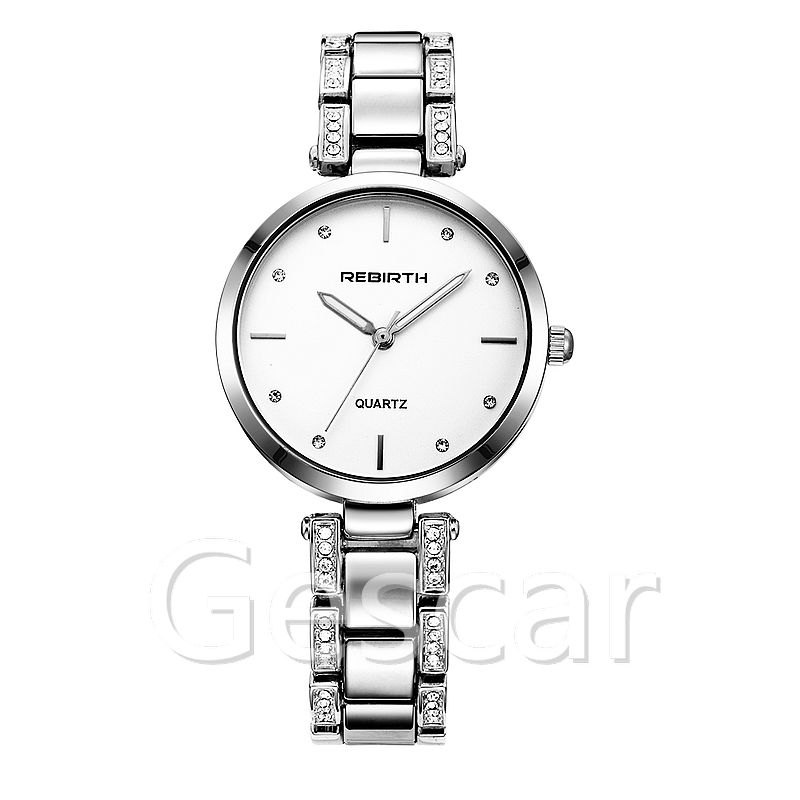 Rebirth RE202 hot sale high quality steel bracelet wrap quartz casual watch for man women