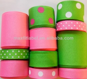 wholesale printed ribbon, sports grosgrain ribbon, custom colorful printed ribbon