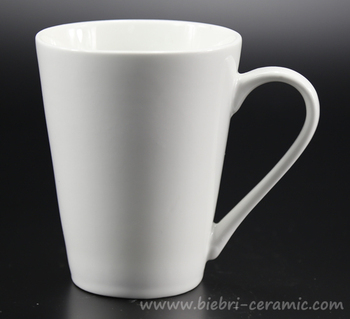 10oz Plain White Bulk Style Custom Available Porcelain Coffee Mugs For Promotion