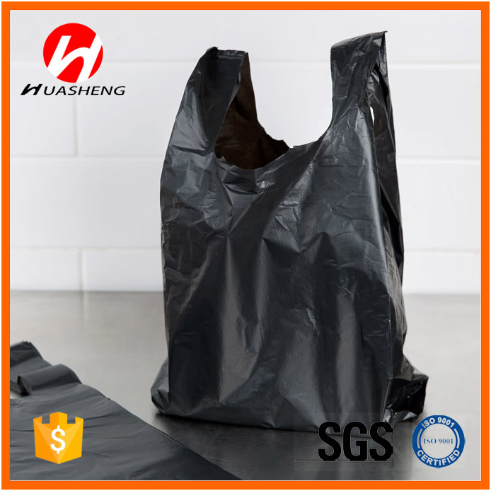 Accept Custom Order <strong>PE</strong> And Embossed Surface Handling T-shirt Vest Shopping Bags