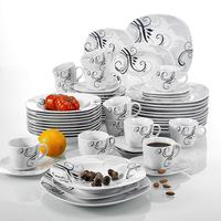 Europe Style !!20pcs square porcelain disposable tableware /royal porcelain tableware with full decal