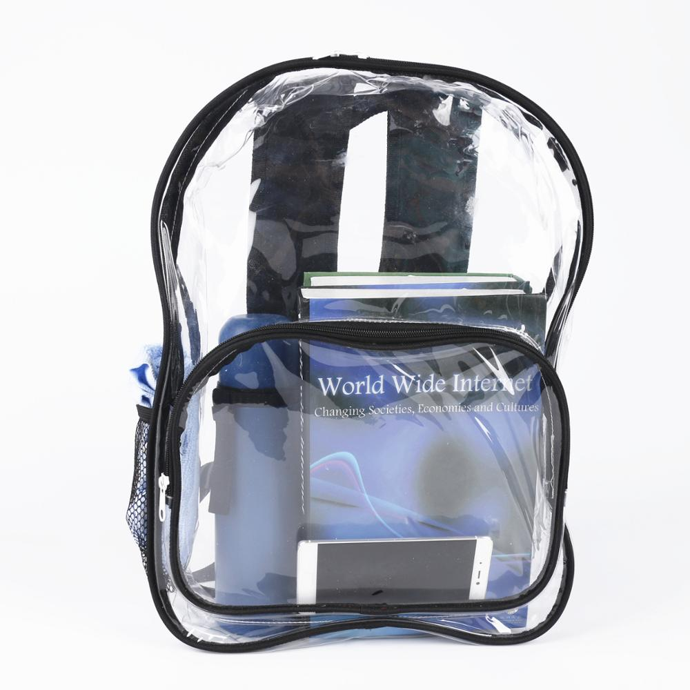 Hot Sale Waterproof PVC Backpack Transparent For College Students