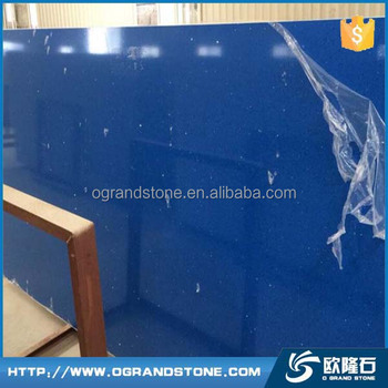 Dark Blue Sky Blue Pearl Quartz Stone Slab For Countertops Buy