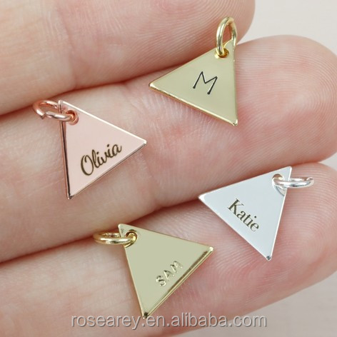 Geometric Pendant Jewelry Personalised Small Custom Blank Logo Charm Pendant Hexagon Bracelet Charm Jewelry Findings