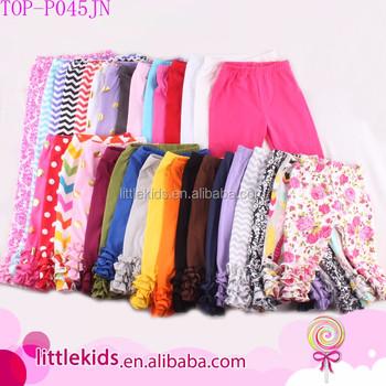 f9faa3a4f1dfb5 Sew sassy ruffle capris wholesale icing leggings baby girl icing ruffle  pants