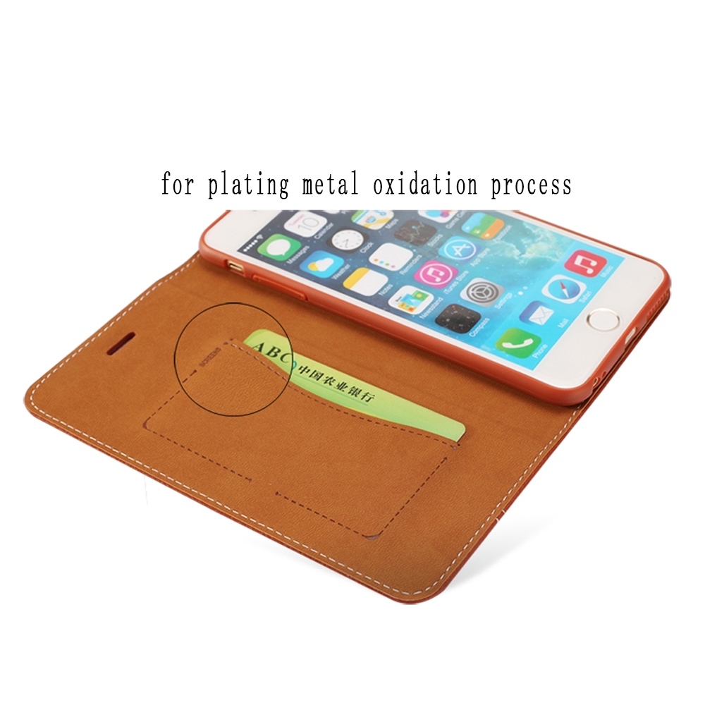 Mobile phone leather caseleather for iphone case with for Iphone business card holder