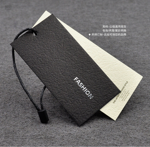 high quality luxury swing paper hang tags label for garment clothes