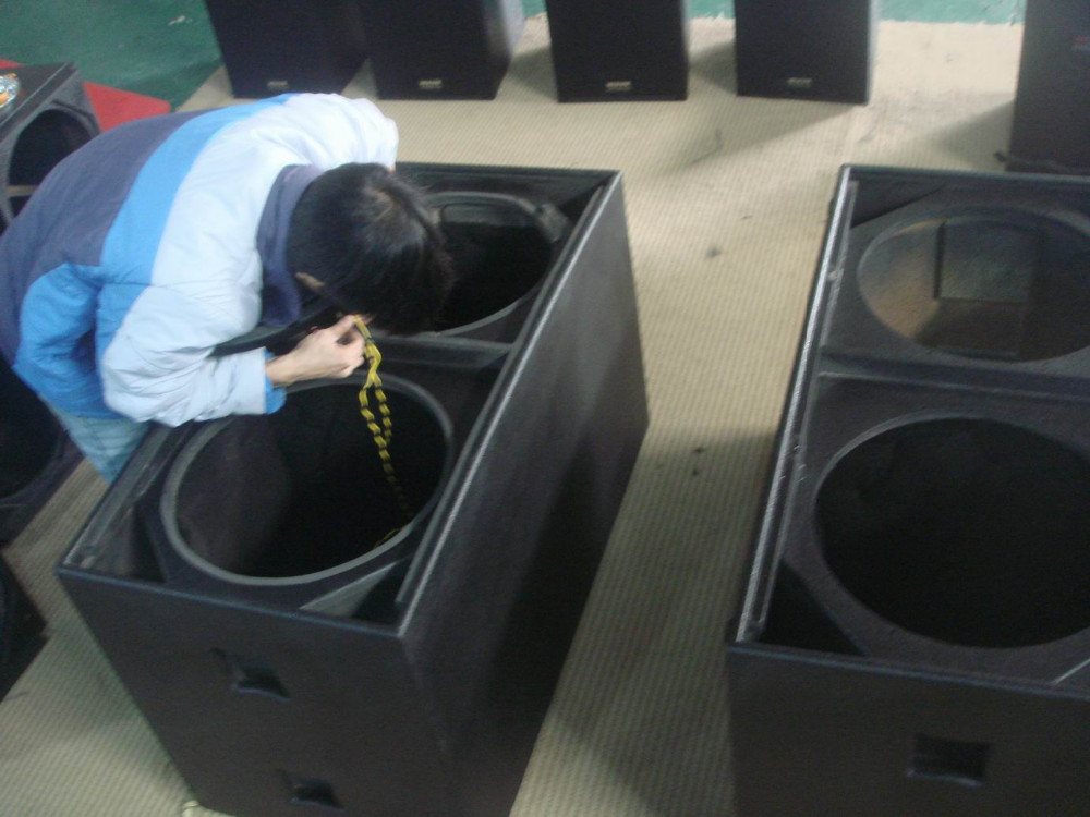 Dual 18 inch subwoofer box