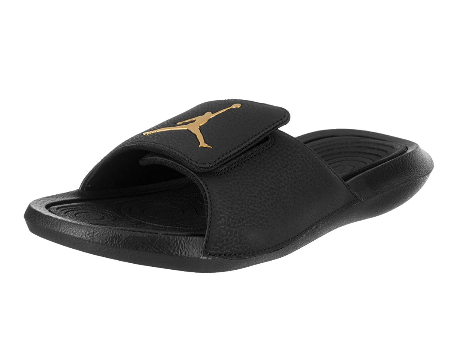 c2518aa0a105cd Get Quotations · Jordan Hydro 6 Men s Slides Black Metallic Gold 881473-033  (10 D(