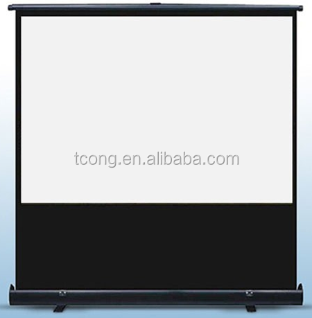 80 inch 16:9 projector floor screen pull up projector screen for cinema