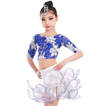 8e4f9befb New Style Blue Stage Latin Dance Dresses For Kids - Buy Latin ...