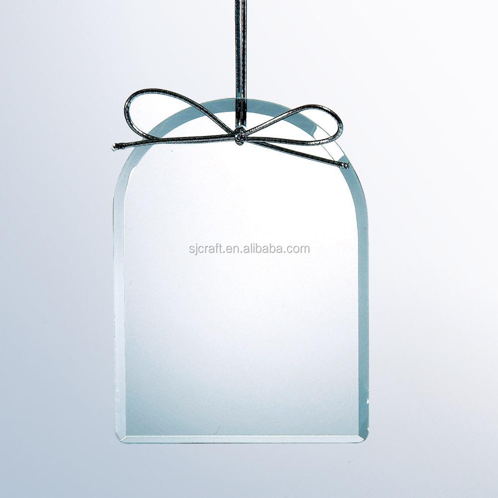 Flat glass ornaments - Clear Glass Flat Ornaments Glass Ornament Oval Sj Gj313