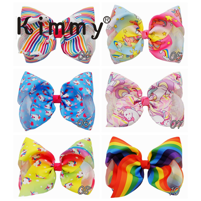 BIG 8 Inches Hair Bows For Girls Grosgrain Boutique Hair Bow Clips For Teens Kids Toddlers
