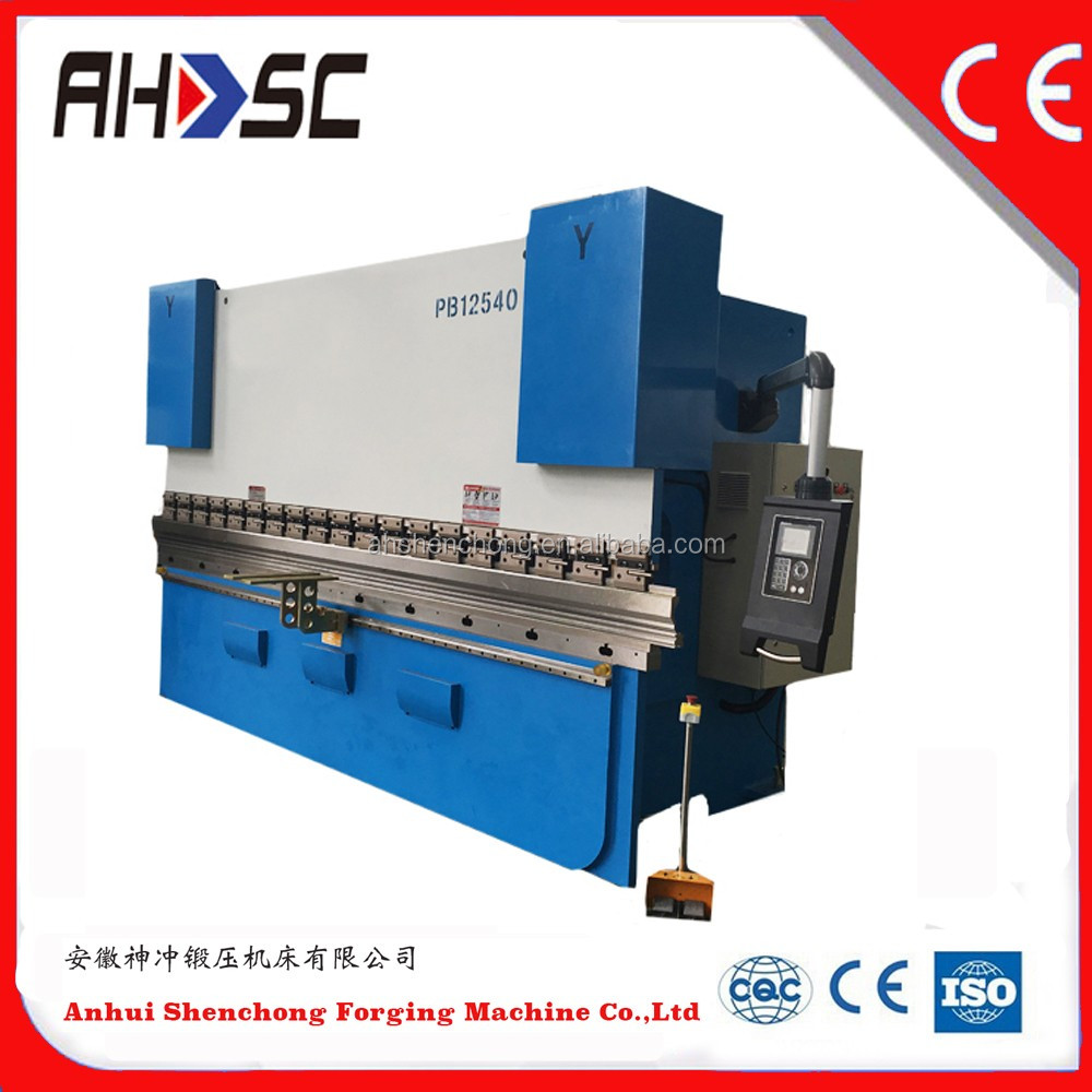 Schneider electric WC67Y-160T/3200 CNC hydraulic plate press brake/press brake die price/steel bending machine price