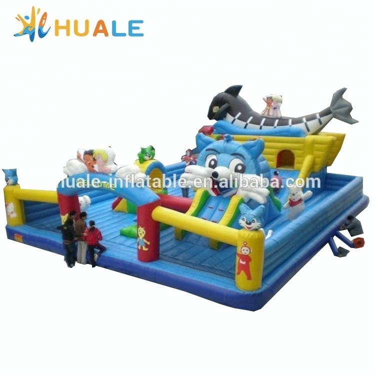 Animal inflatable fun city, popular inflatable palyground for kids