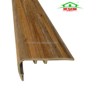 Building Material Anti Slip Pvc Stair Nosing Strips For WPC And LVT Flooring