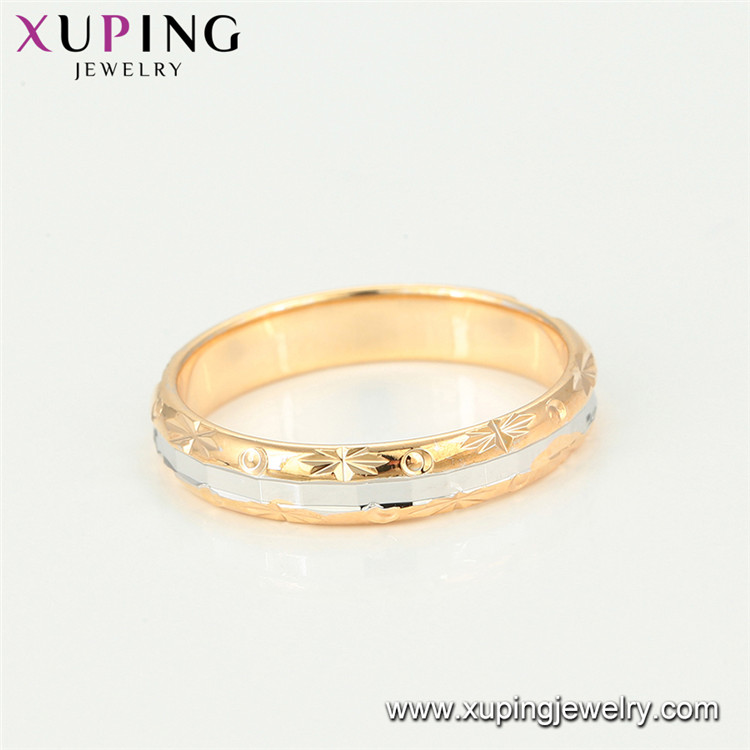 15302 Xuping new design simple gold finger ring designs female Copper rings
