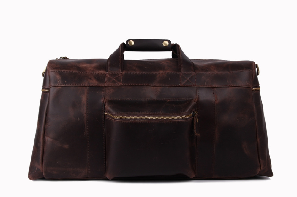 Extra Larger Genuine Leather Fashion Luggage Travel Bag Cowhide Leather Duffle Bag for Men 1098