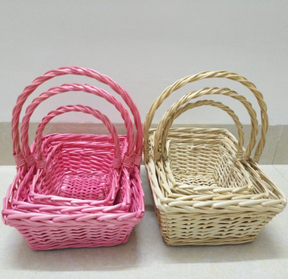 Square Handle Wicker Basket Wholesale, Wicker Basket Suppliers - Alibaba