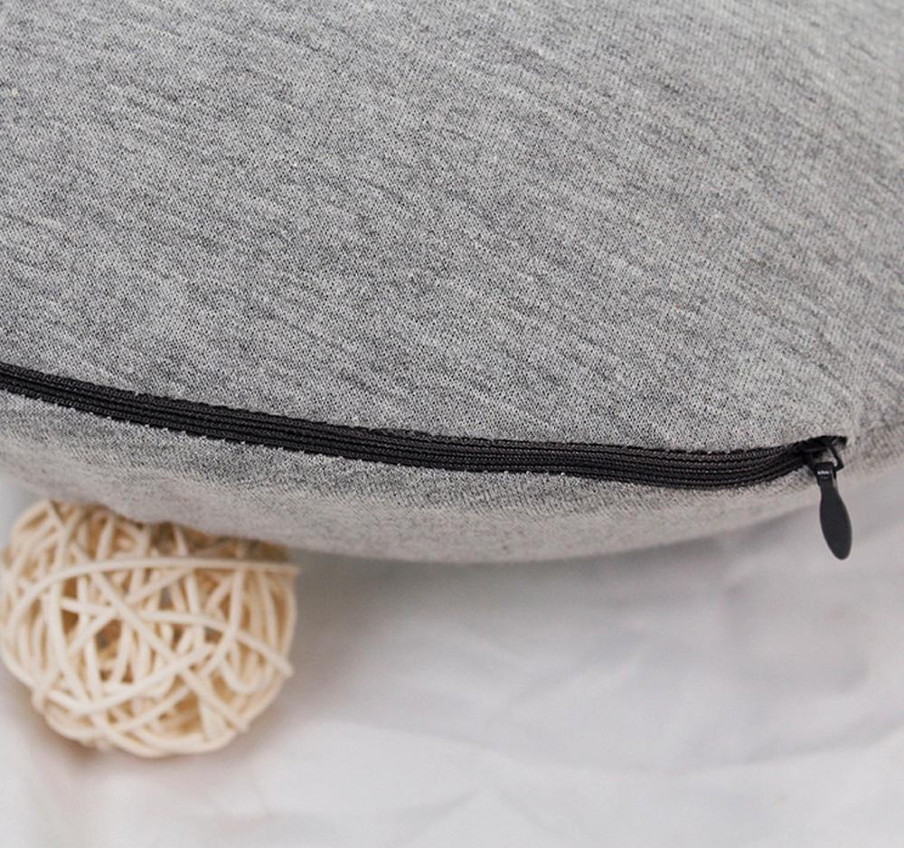 De Viaje cuello almohada de 100% de algodón de viaje   en forma de U cuello almohada de espuma de memoria/asiento de coche almohada para el cuello