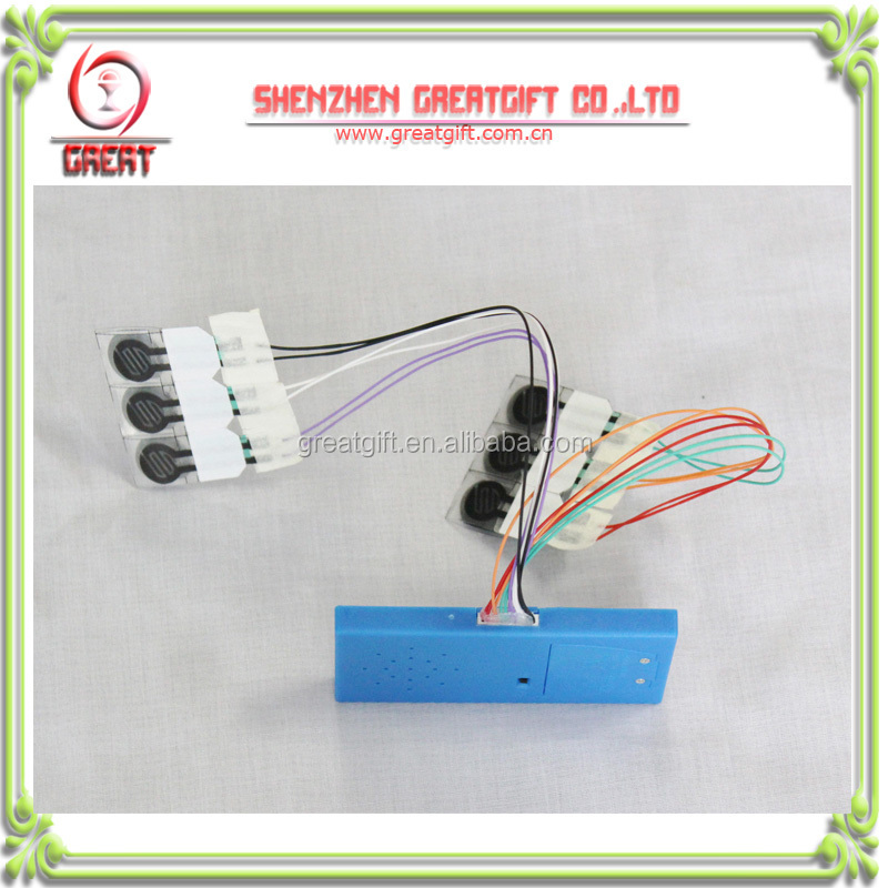 recordable sound module with 6 typed keys for children books, pre-recorded sound module,programmable sound module