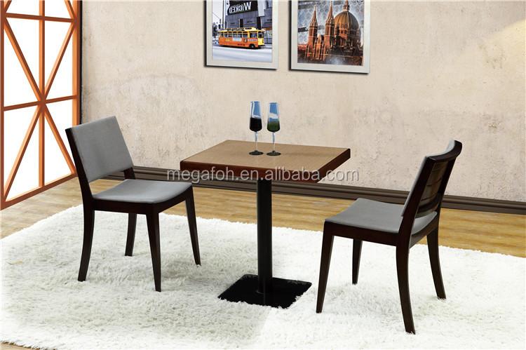 Standard specification 2 person square tables and chairs for hotel restaurant(FOH-BCA52)