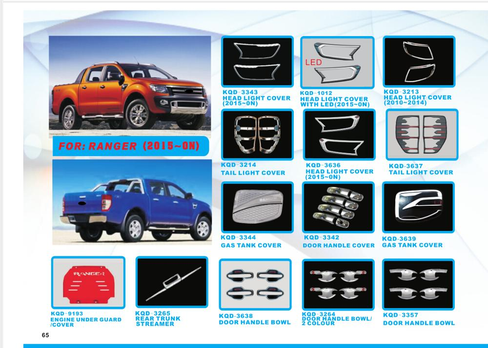 New design car wheel arch fender flares accessories for Ford Ranger 2015