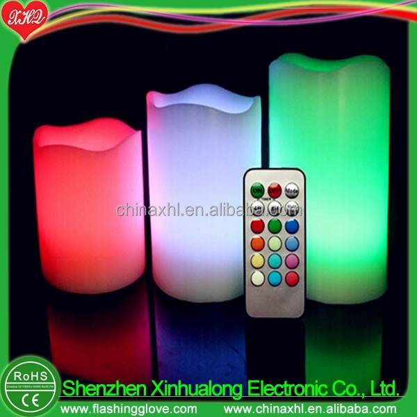 4 / 5 / 6 inches LED remote control candle