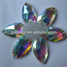 sew-on flat back crystal beads