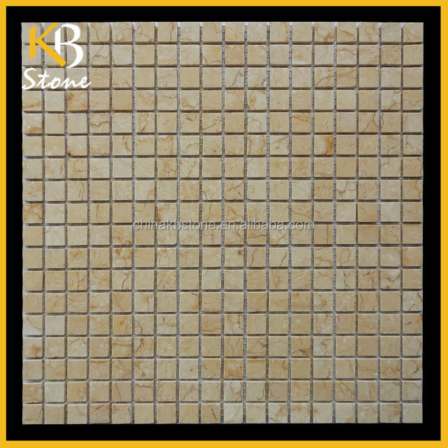 Gold marble mosaic tiles from KB Stone