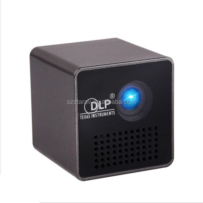 Cheapest DLP pico projector P1 Micro DLP LED Home Theater Projector Mini Projector Battery Build-in with TF micro SD card slot