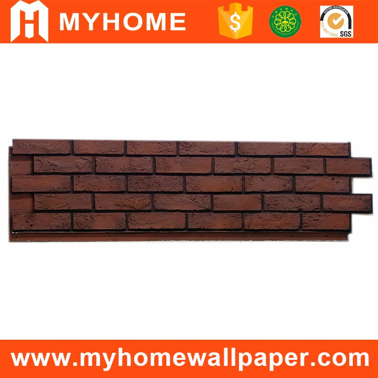 Poliuretano espuma de poliuretano panel exterior for Revestimiento de ladrillo decorativo