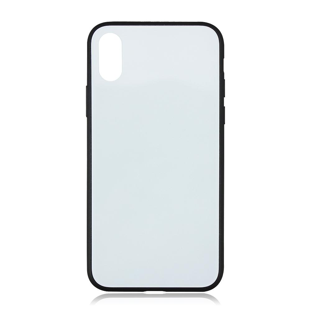 Пользовательский сублимационный чехол для телефона без рисунка 2D, стеклянный чехол для телефона из ТПУ для iPhone X