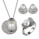 pearl jewelry set silver women jewelry sets