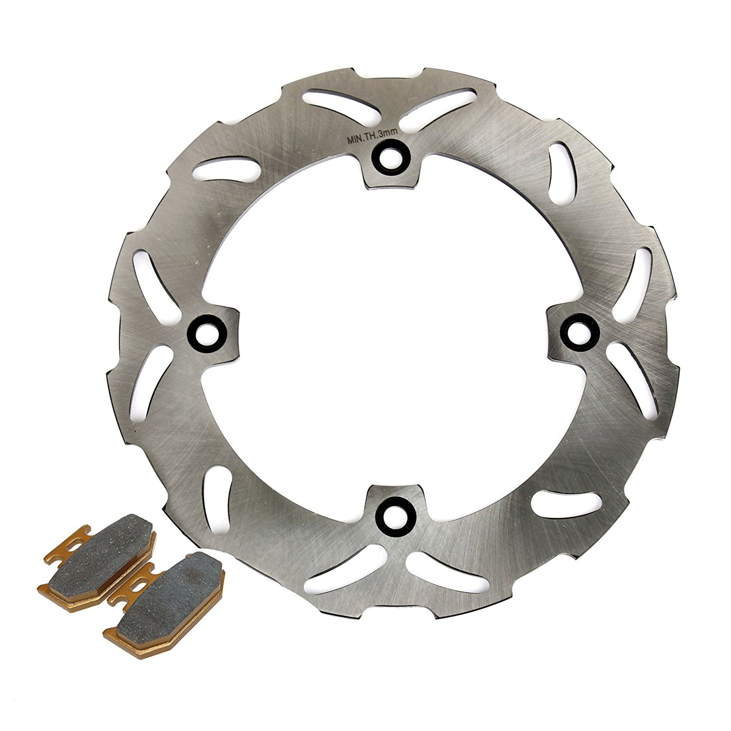 Wotefusi Motorcycle Rear Brake Disc Rotor for Suzuki Ts125 1990-1996 1991 1992 1993 1994 1995 Ts200 1989-1994 Dr250 Dr350 Do Not Fit for 1995 Suzuki Dr350 Street.