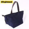 8006 Retro Fashion Canvas Ladies Small Shoulder Bag Handbags with Genuine Leather Handles