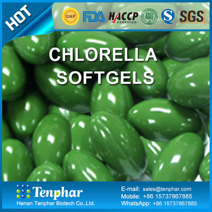 1000mg Chlorella Vulgaris Pellets Soft Gels